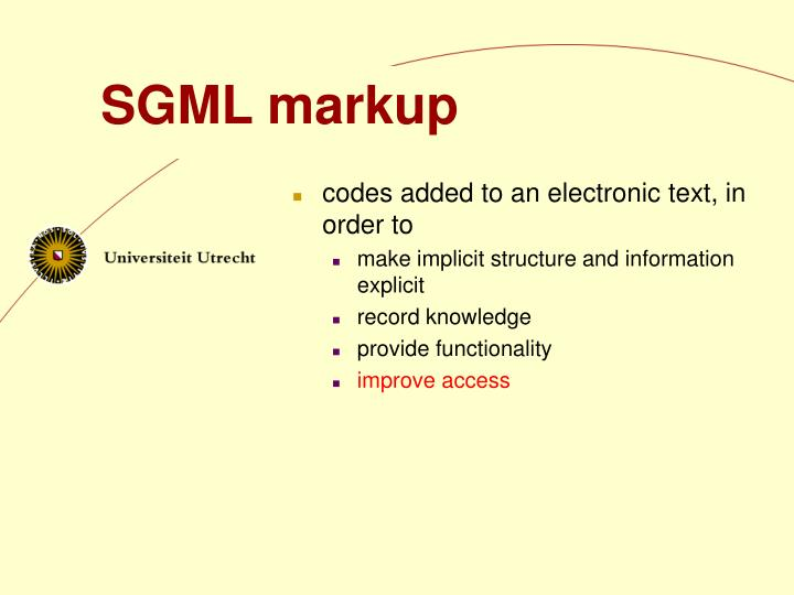 SGML markup