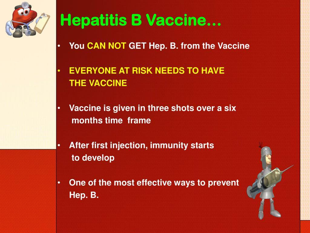Hepatitis B Vaccine…