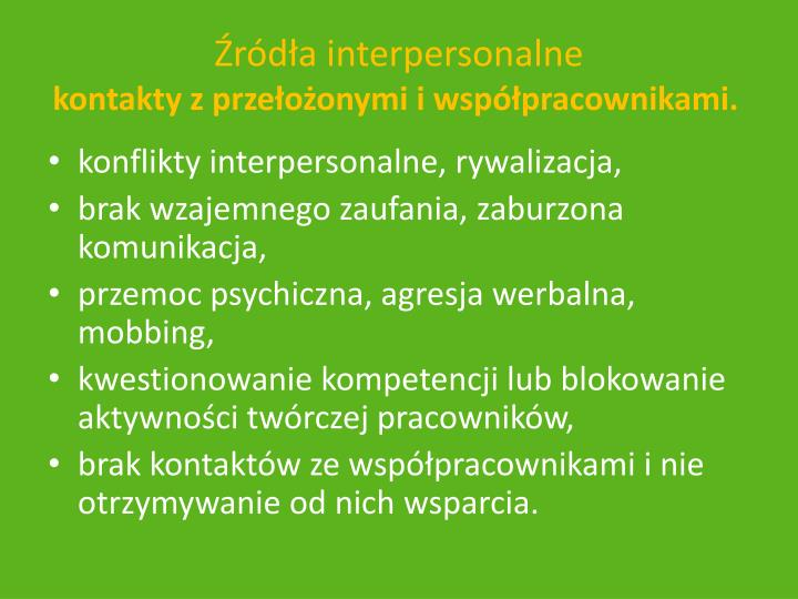 rda interpersonalne