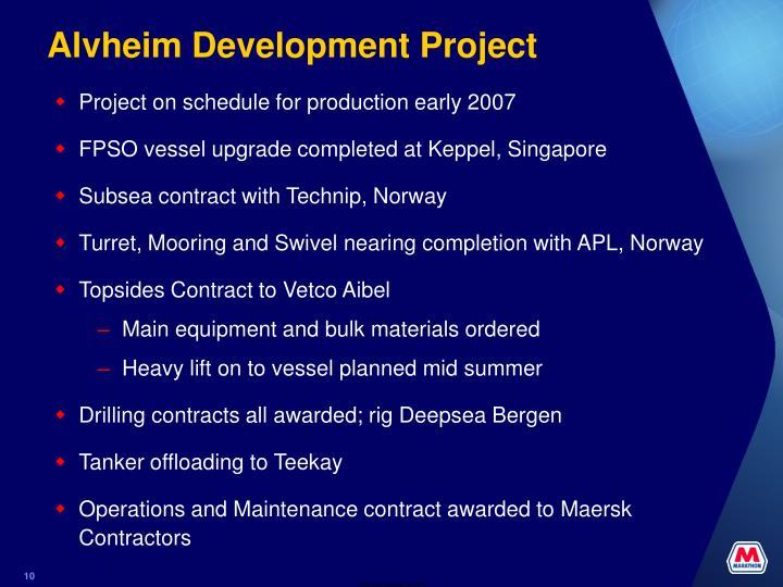 Alvheim Development Project