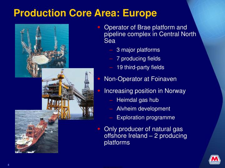 Production Core Area: Europe