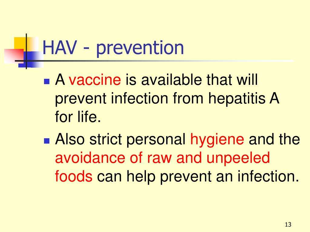 HAV - prevention