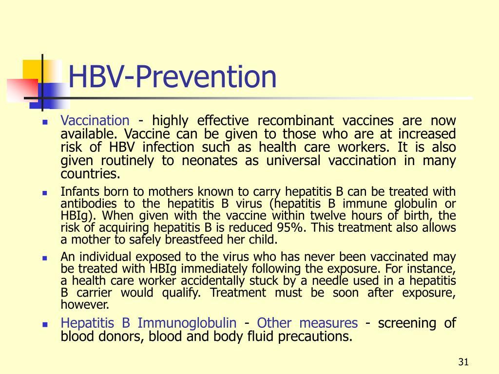 HBV-Prevention