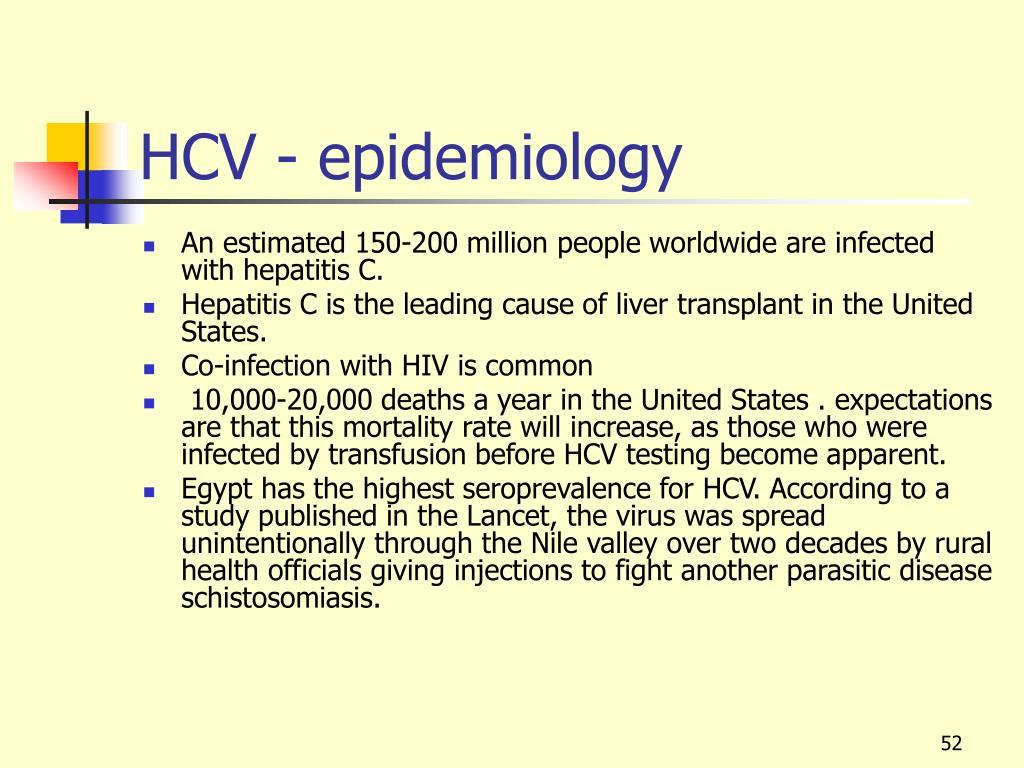 HCV - epidemiology