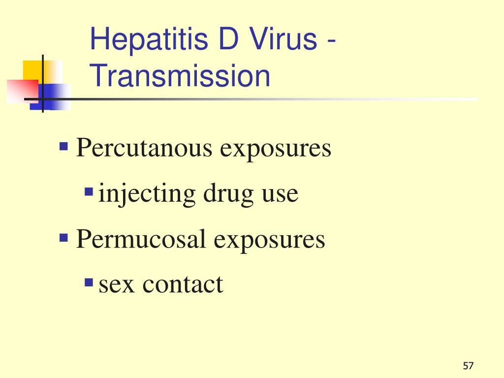 Hepatitis D Virus - Transmission