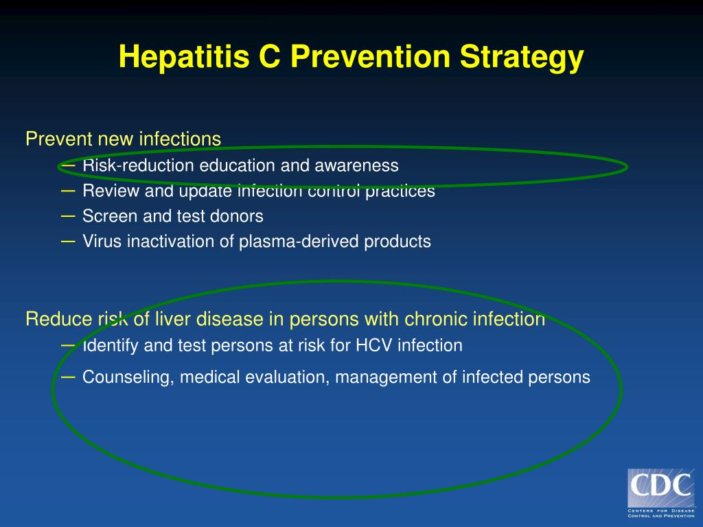 Hepatitis C Prevention Strategy