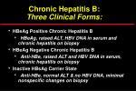 chronic hepatitis b three clinical forms
