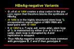 hbeag negative variants