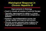 histological response in chronic hepatitis b
