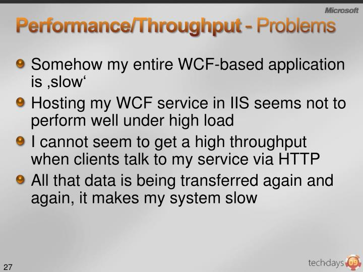 Performance/Throughput