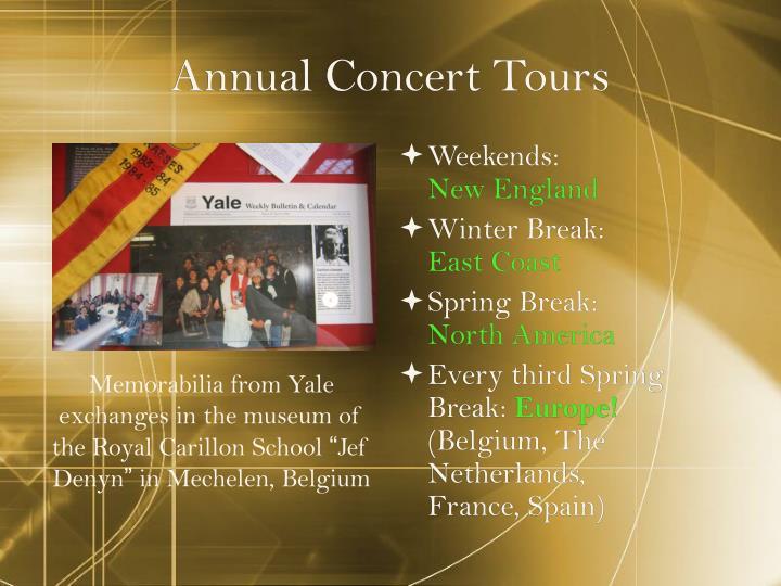 Annual Concert Tours