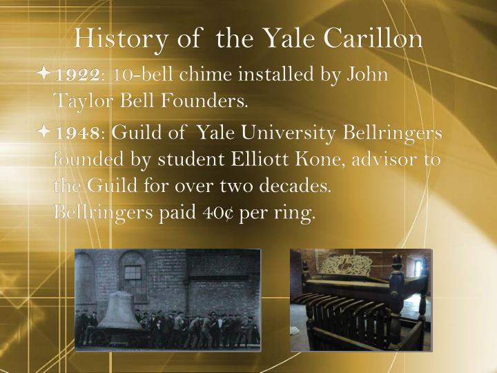 History of the Yale Carillon