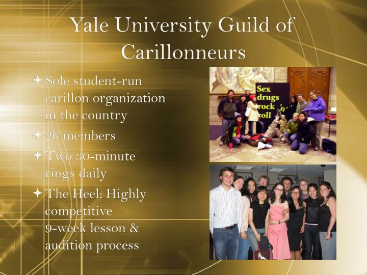 Yale University Guild of Carillonneurs