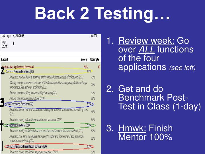 Back 2 Testing…