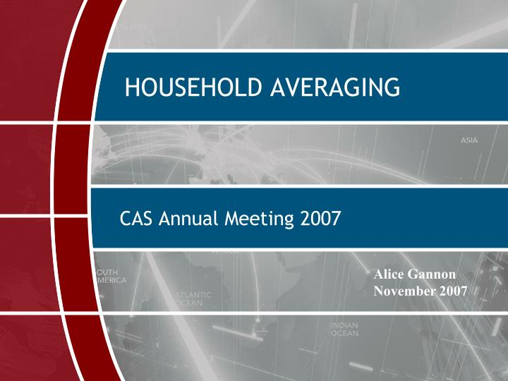 Household averaging