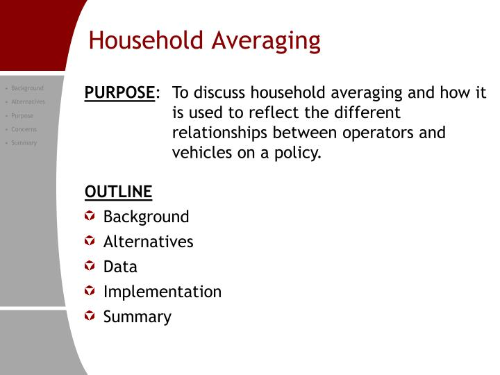Household averaging1