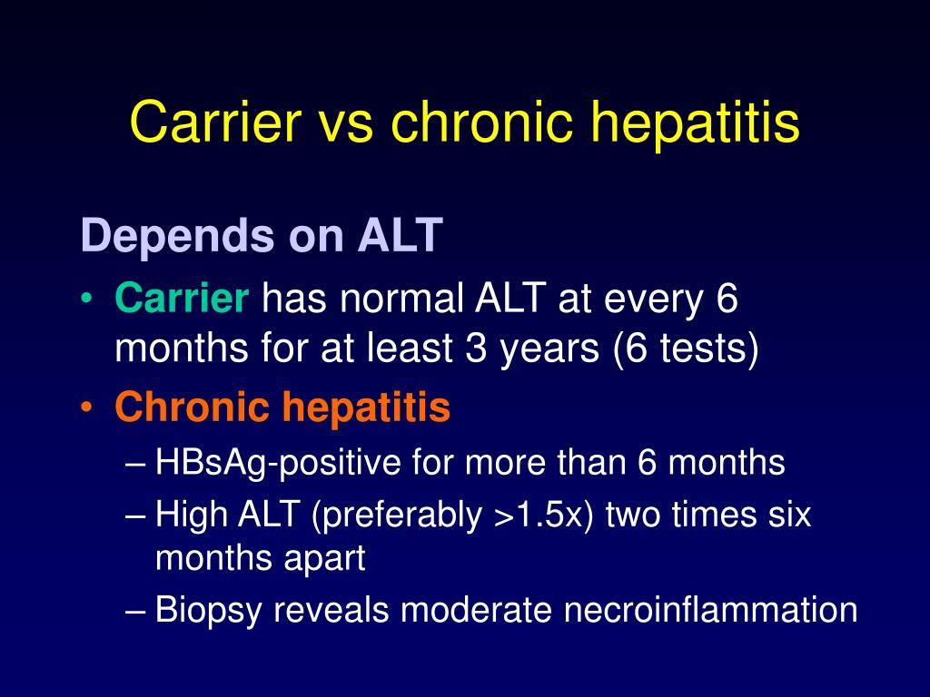 Carrier vs chronic hepatitis