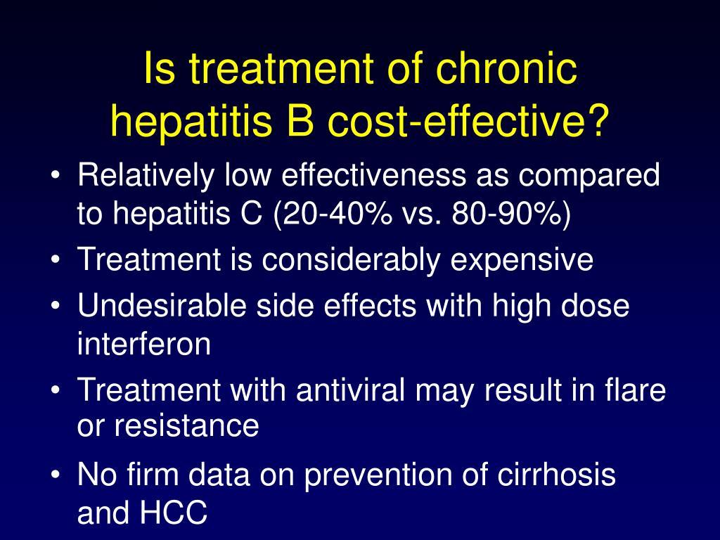 Is treatment of chronic hepatitis B cost-effective?