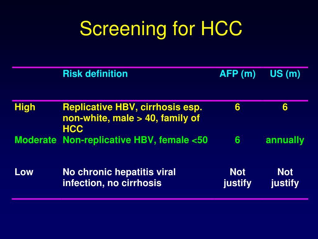 Screening for HCC