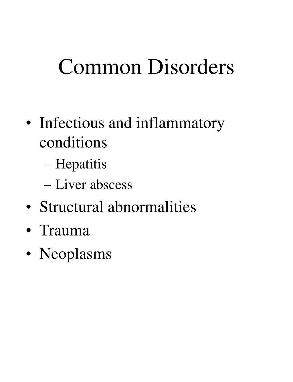 Common Disorders