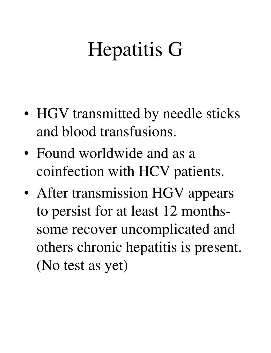 Hepatitis G