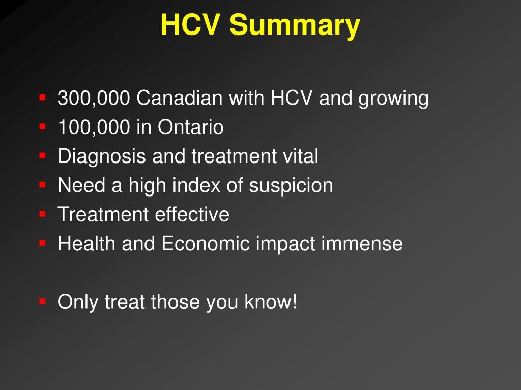 HCV Summary