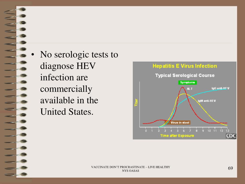 No serologic tests to diagnose HEV infection are commercially available in the United States.