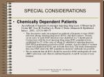 special considerations95