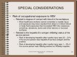 special considerations97