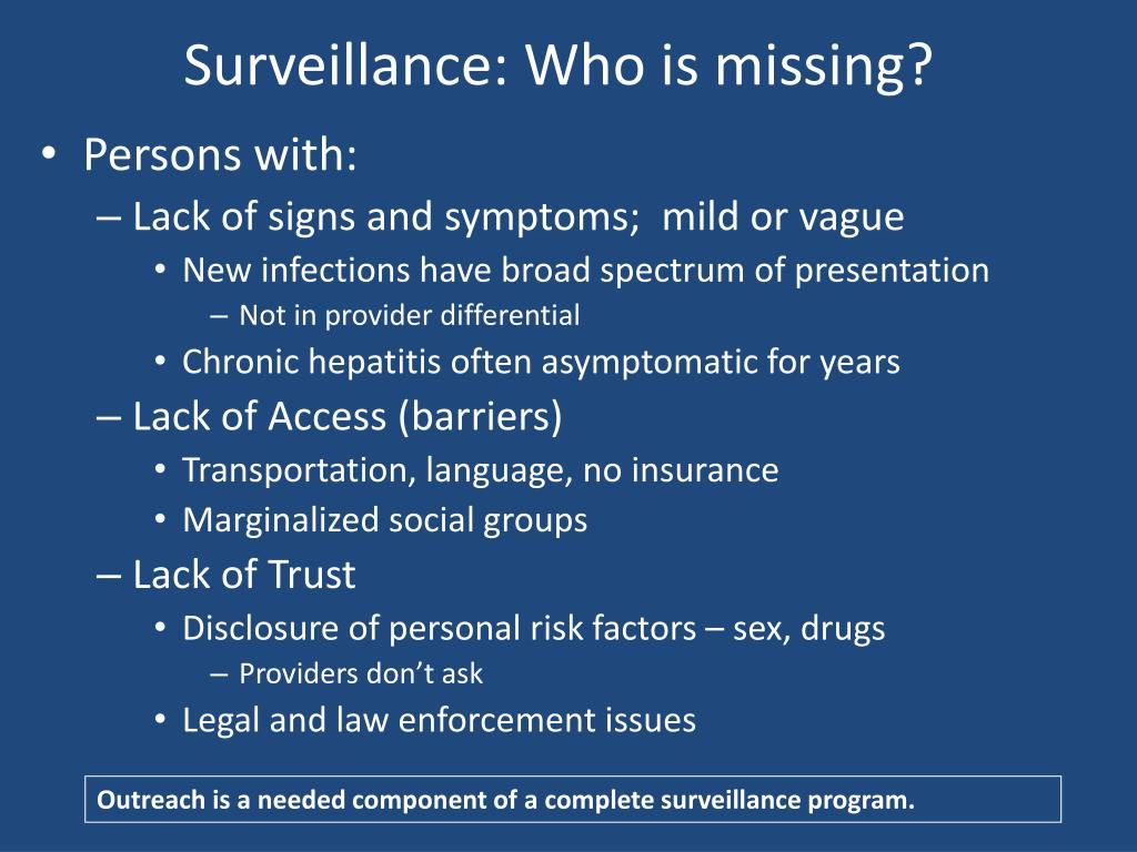Surveillance: Who is missing?