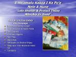 e ho omalu kakoa i ka po e nele a hune lets shelter protect those who are in need