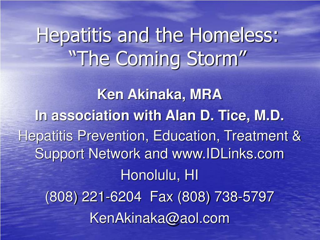 Hepatitis and the Homeless:
