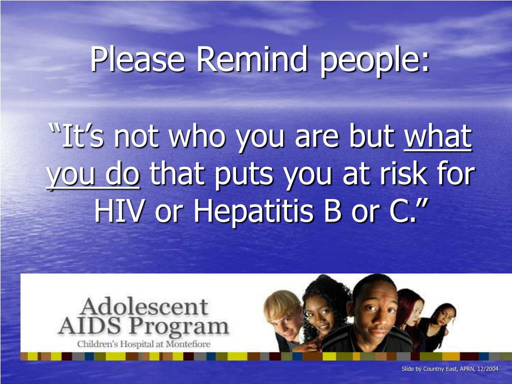 Please Remind people: