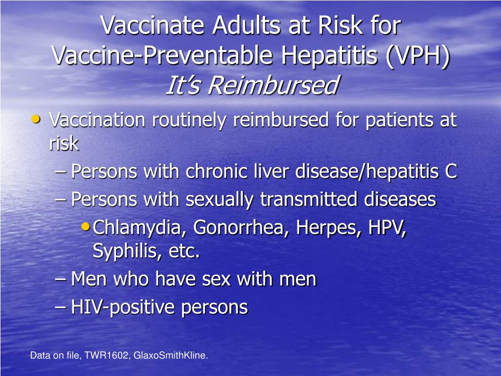 Vaccinate Adults at Risk for