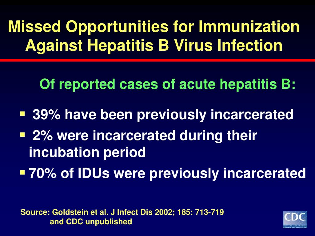 Missed Opportunities for Immunization Against Hepatitis B Virus Infection