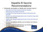 hepatitis b vaccine recommendations