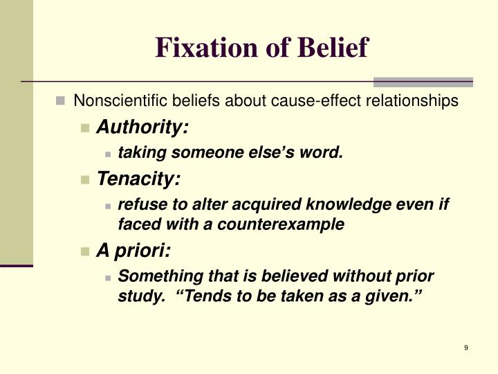 Fixation of Belief