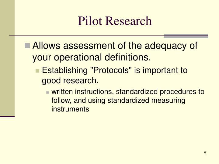 Pilot Research