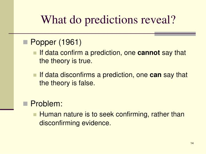 What do predictions reveal?