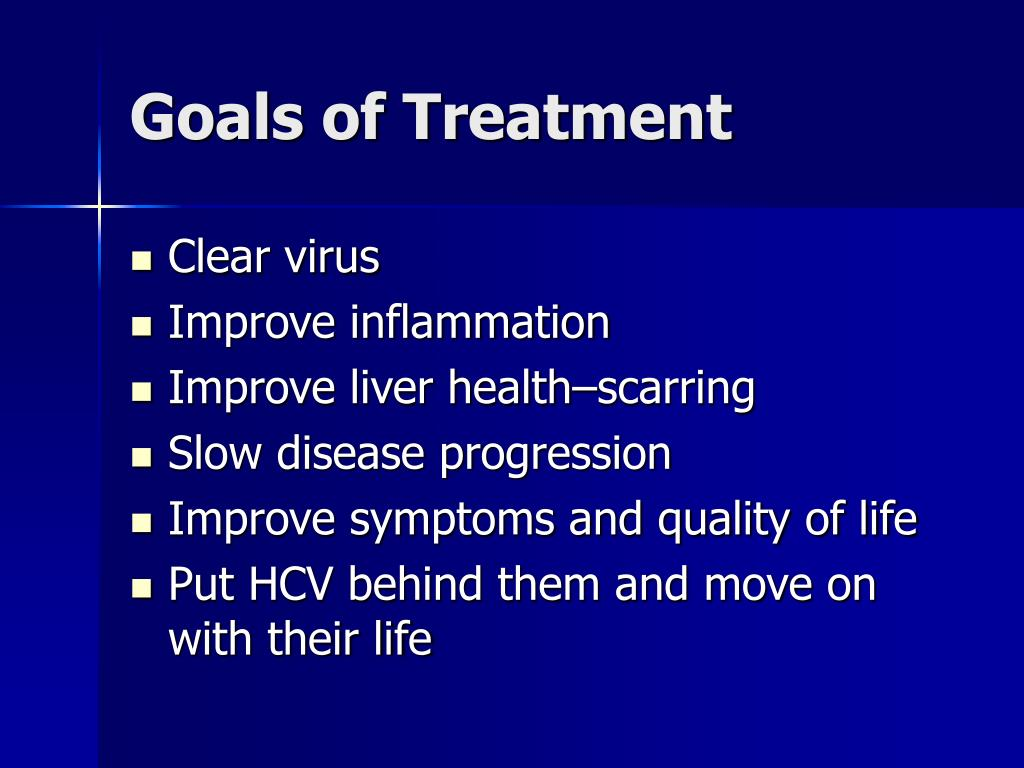 Goals of Treatment
