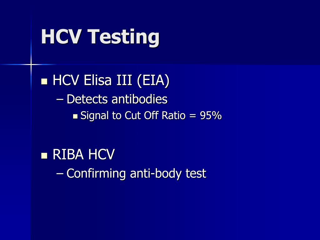 HCV Testing