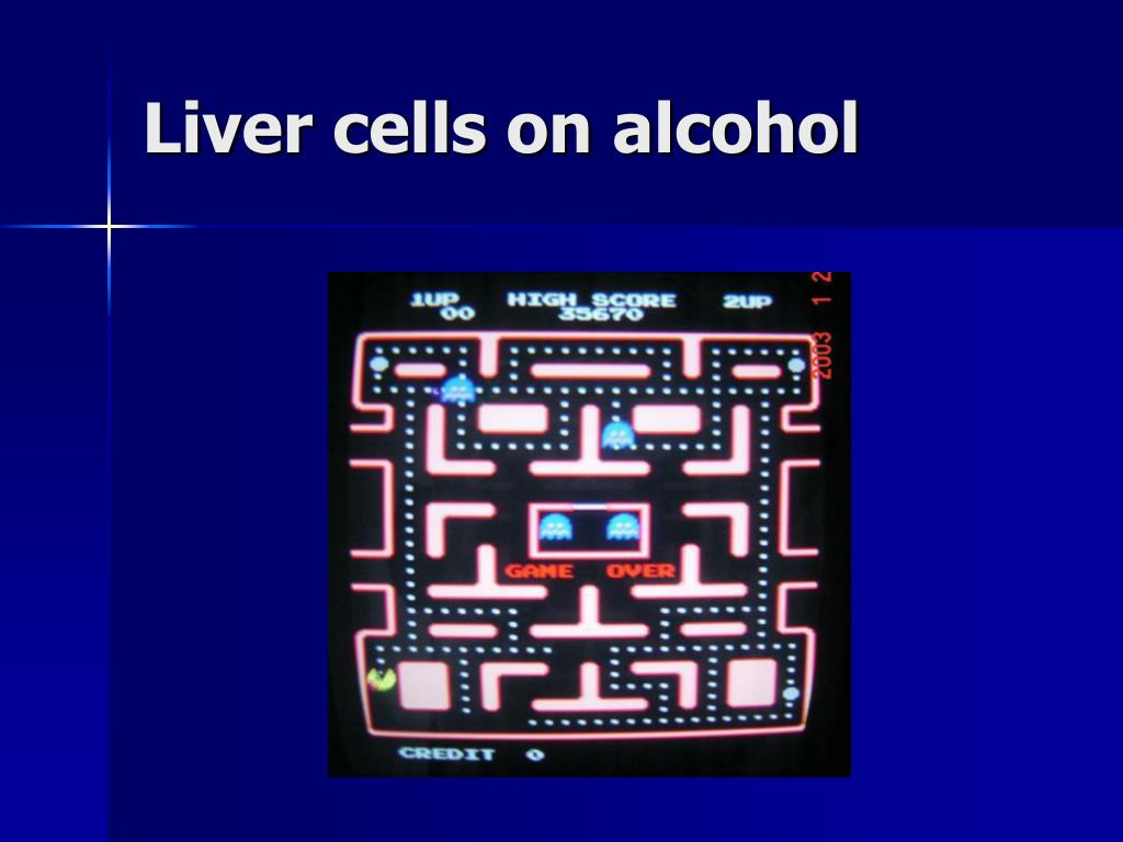 Liver cells on alcohol