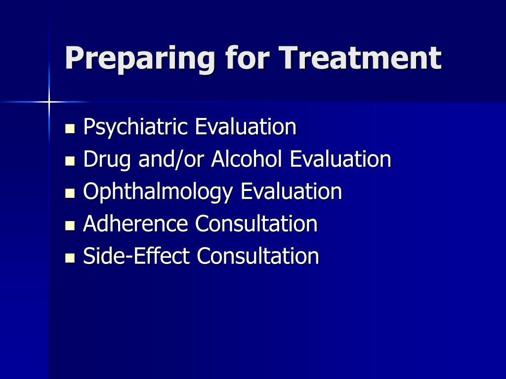 Preparing for Treatment