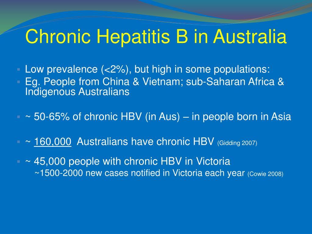 Chronic Hepatitis B in Australia