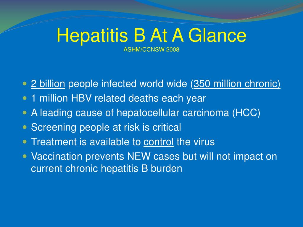 Hepatitis B At A Glance