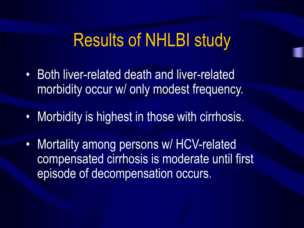 Results of NHLBI study