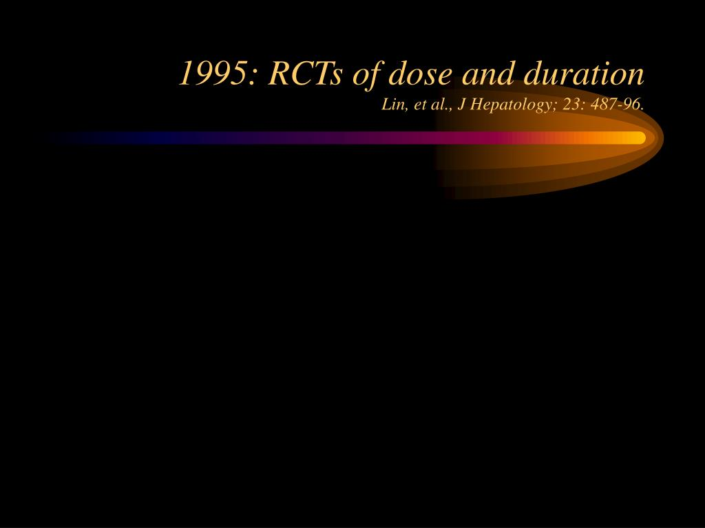 1995: RCTs of dose and duration