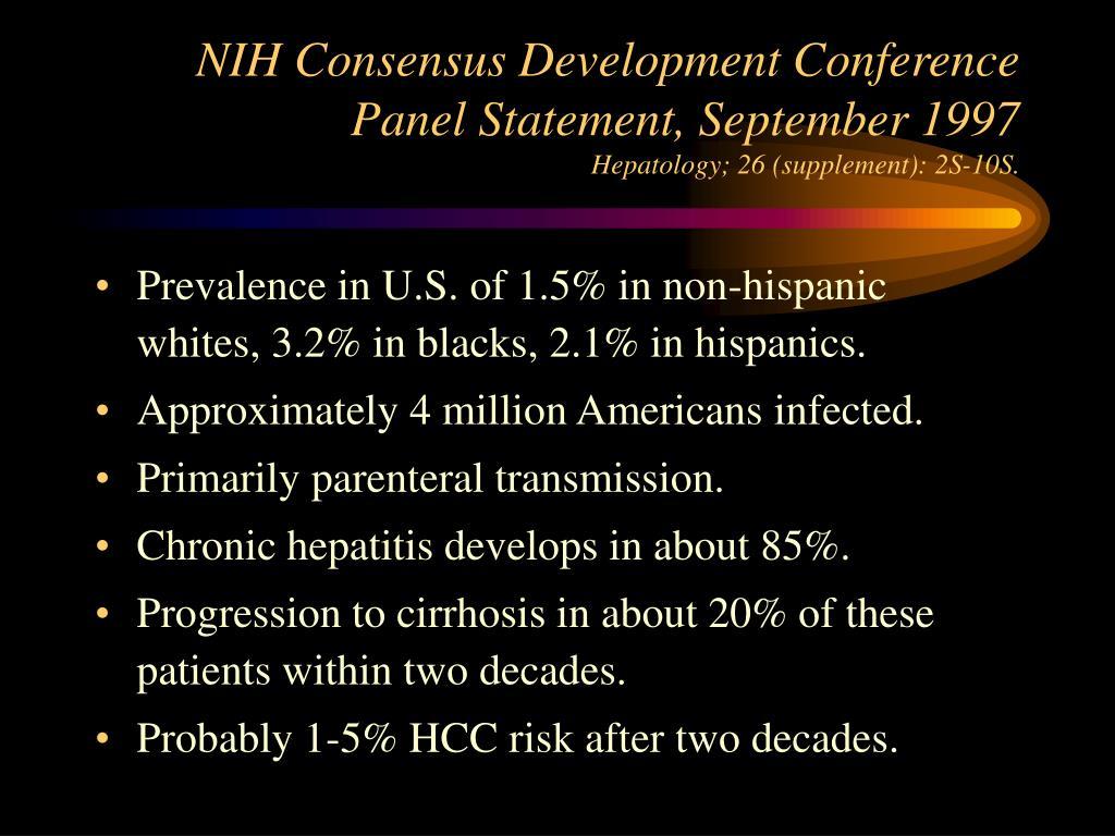 NIH Consensus Development Conference Panel Statement, September 1997