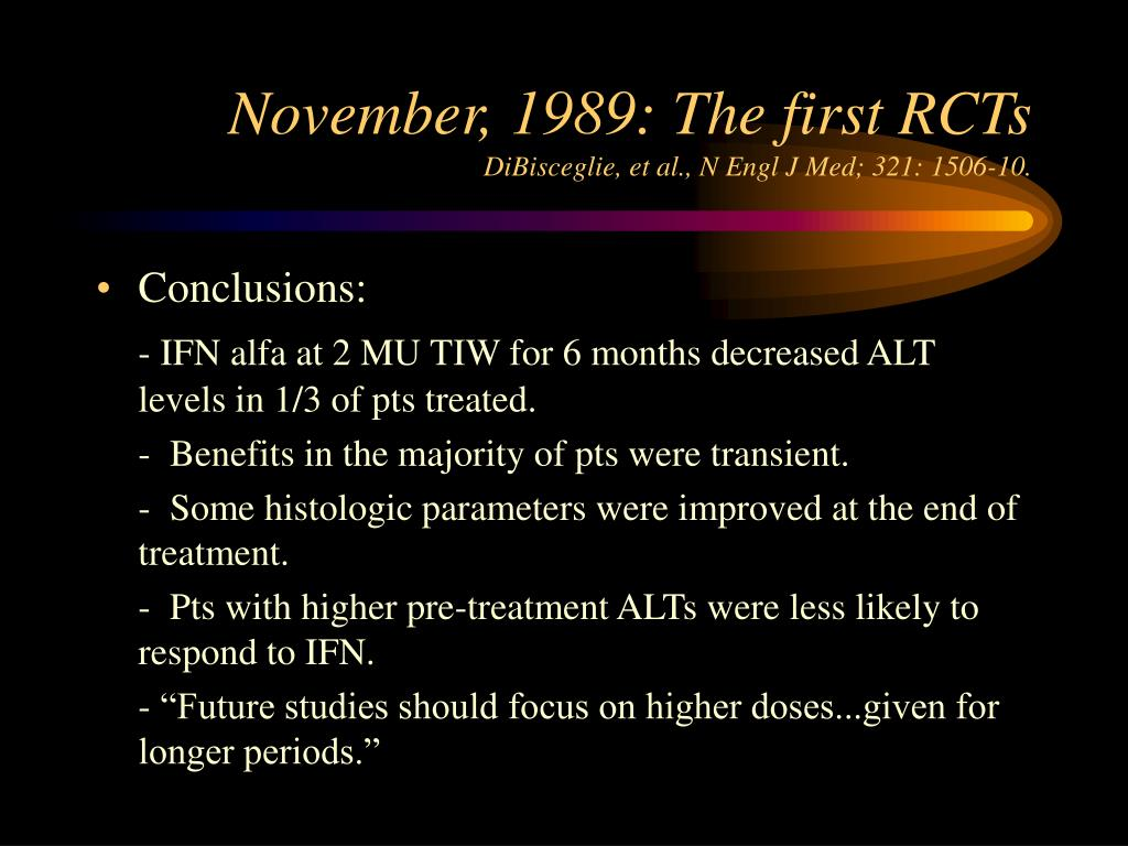 November, 1989: The first RCTs