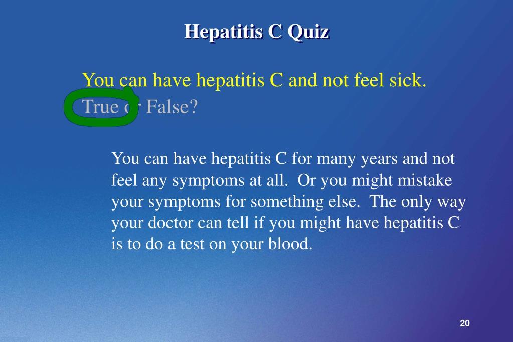 Hepatitis C Quiz